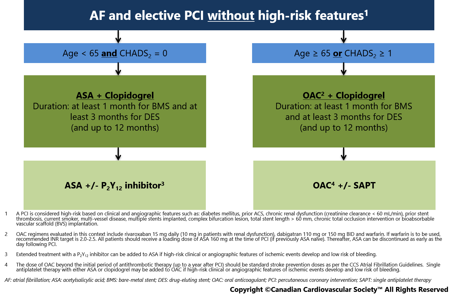 APT 2018 Guidelines chart Fig 1 | Thrombosis Canada